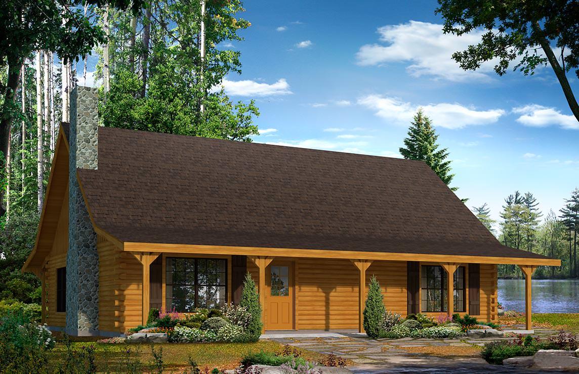 Satterwhite Log Homes Choctaw Floor Plan