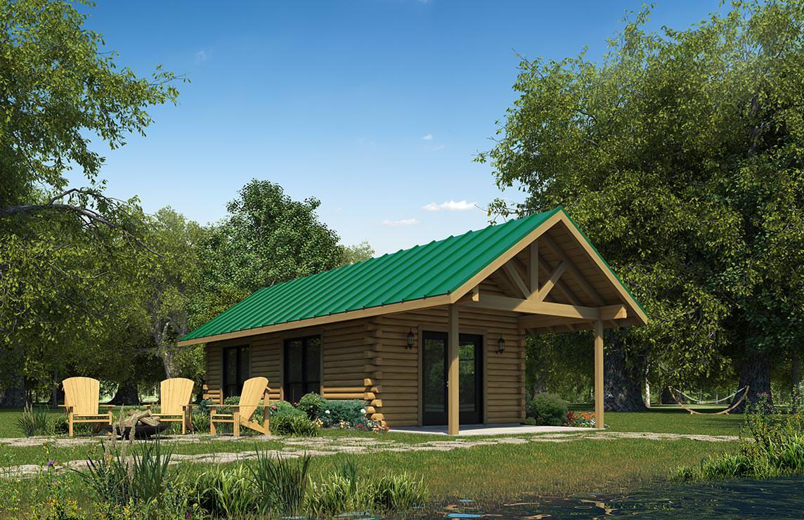 Satterwhite Log Homes Hideaway Floor Plan