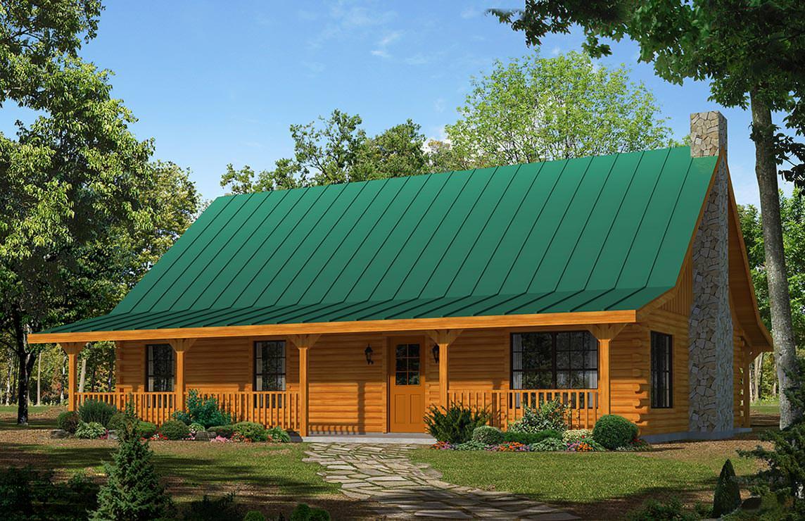Satterwhite Log Homes Kickapoo Floor Plan